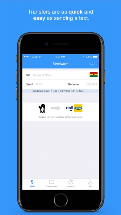 Wave - Send Money to Africa screenshot