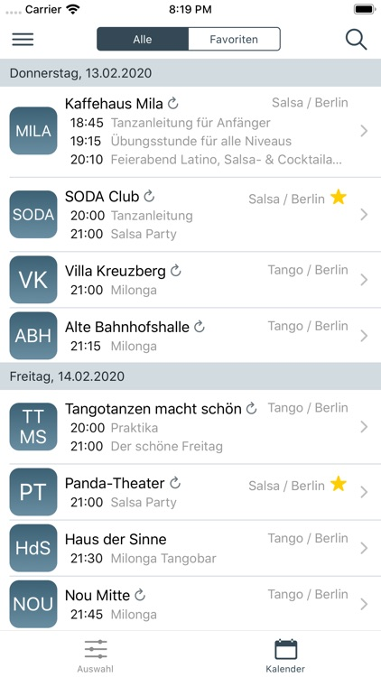 Tanzkalender - Dance Guide