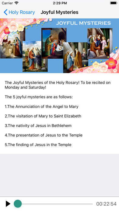 Screenshot of Holy Rosary With Audio & Text App