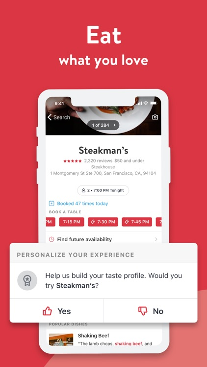 OpenTable screenshot-2