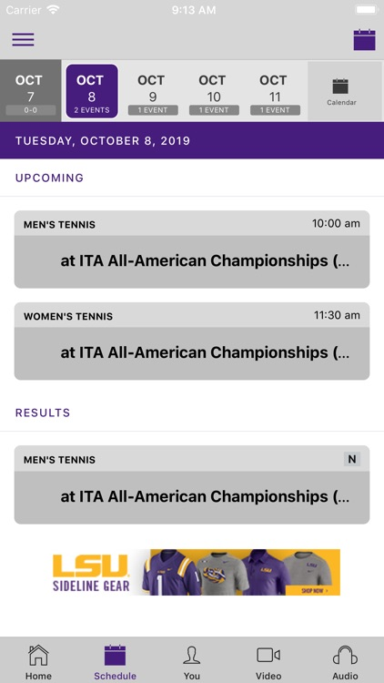 LSU Sports Mobile screenshot-1