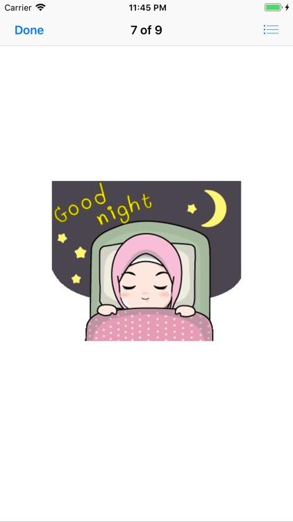Muslim Hijab Girl Greetings screenshot-8