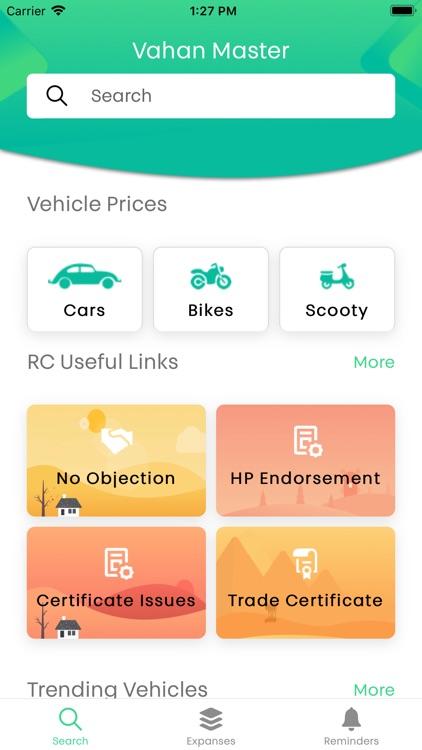 Vahan Master -RTO Vehicle Info