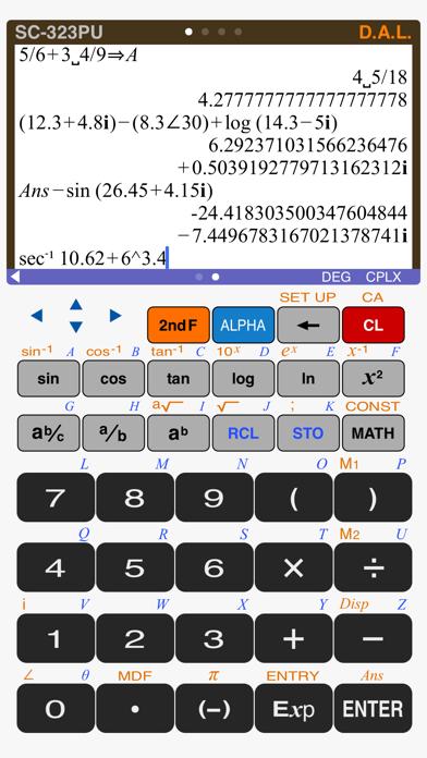 Scientific Calculator SC-323PU Screenshots