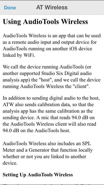 AudioTools Wireless