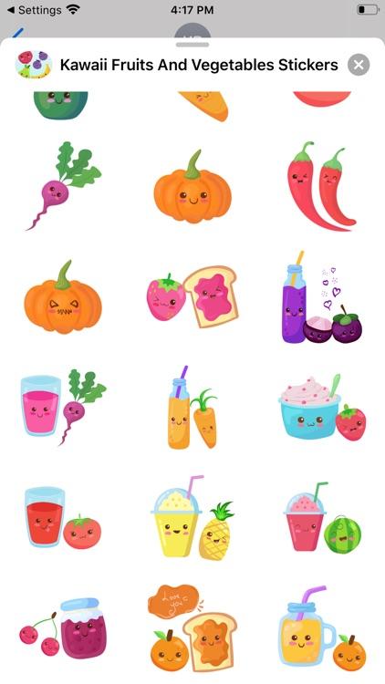 Kawaii Fruits And Vegetables