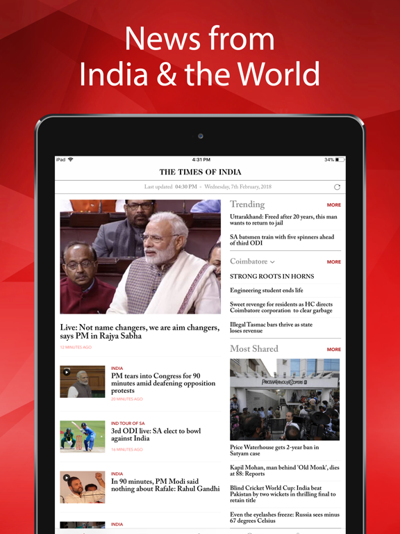 Top 10 Apps like NDTV for iPhone & iPad