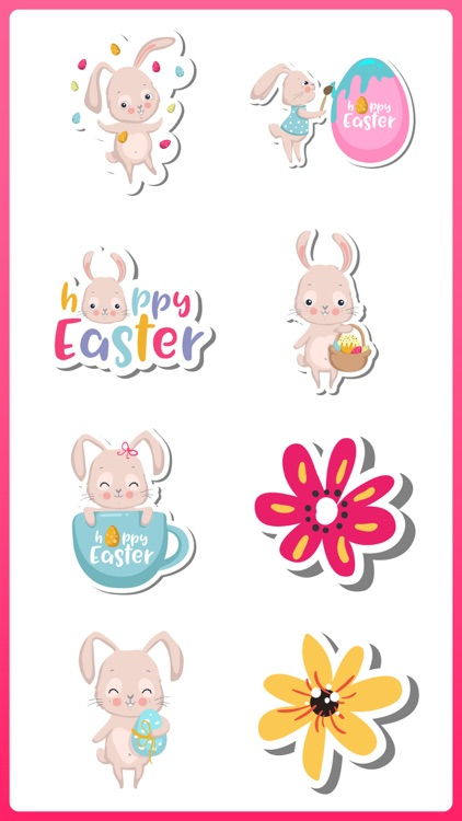 Spring & Easter Bunny Stickers