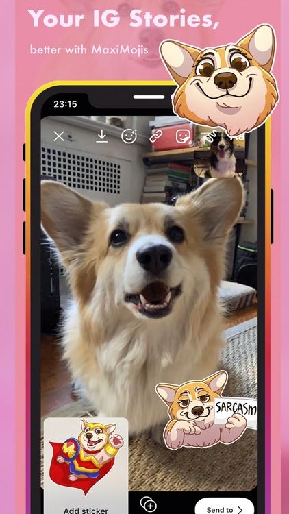 MaxiMojis - Corgi dog stickers