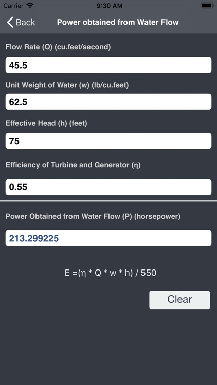 Hydraulics and Waterworks Calc screenshot-4