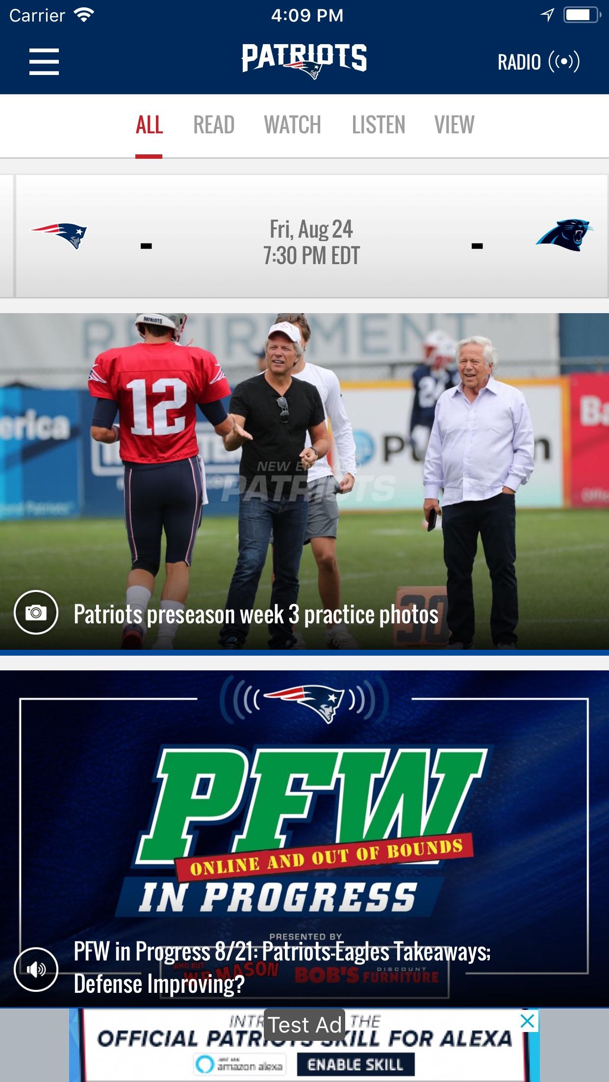 New England Patriots Screenshot
