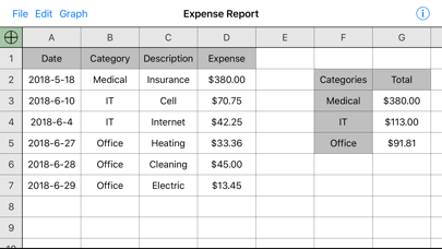 Utility Spreadsheet Pro review screenshots