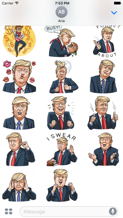 Funny Donald Trump Emoji screenshot 3