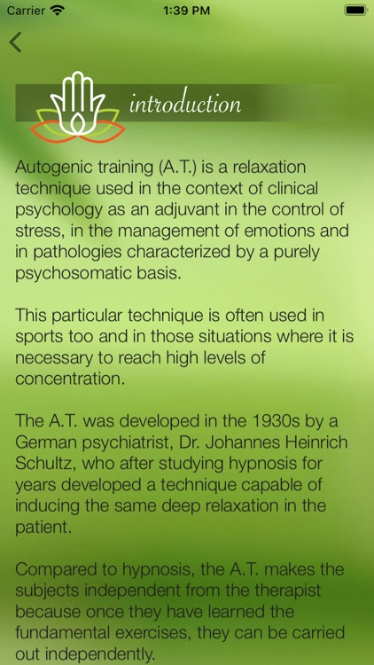 Autogenic Training Original