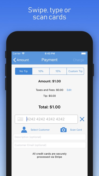 Charge - Stripe Card Payments
