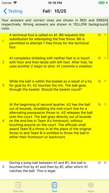 Basketball Rules Quizzes screenshot-4