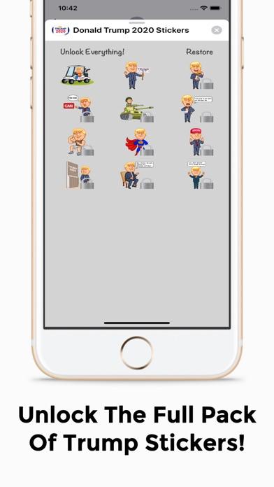 Donald Trump 2020 Sticker Pack screenshot two