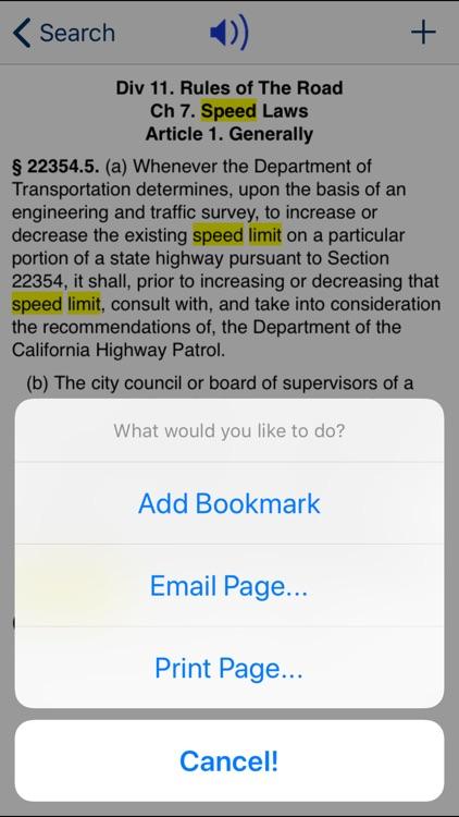 CA Vehicle Code 2020 screenshot-3
