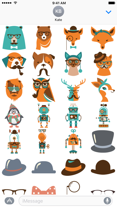 Ultimate Hipster Stickers