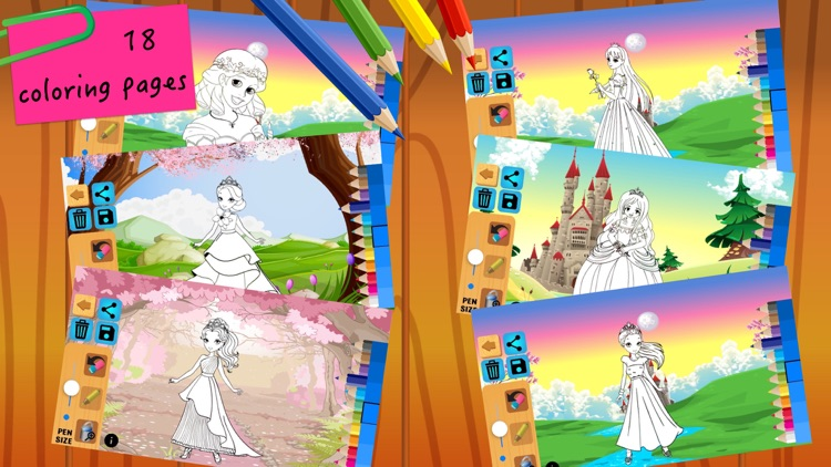 Princess Fairy Tales Coloring screenshot-5