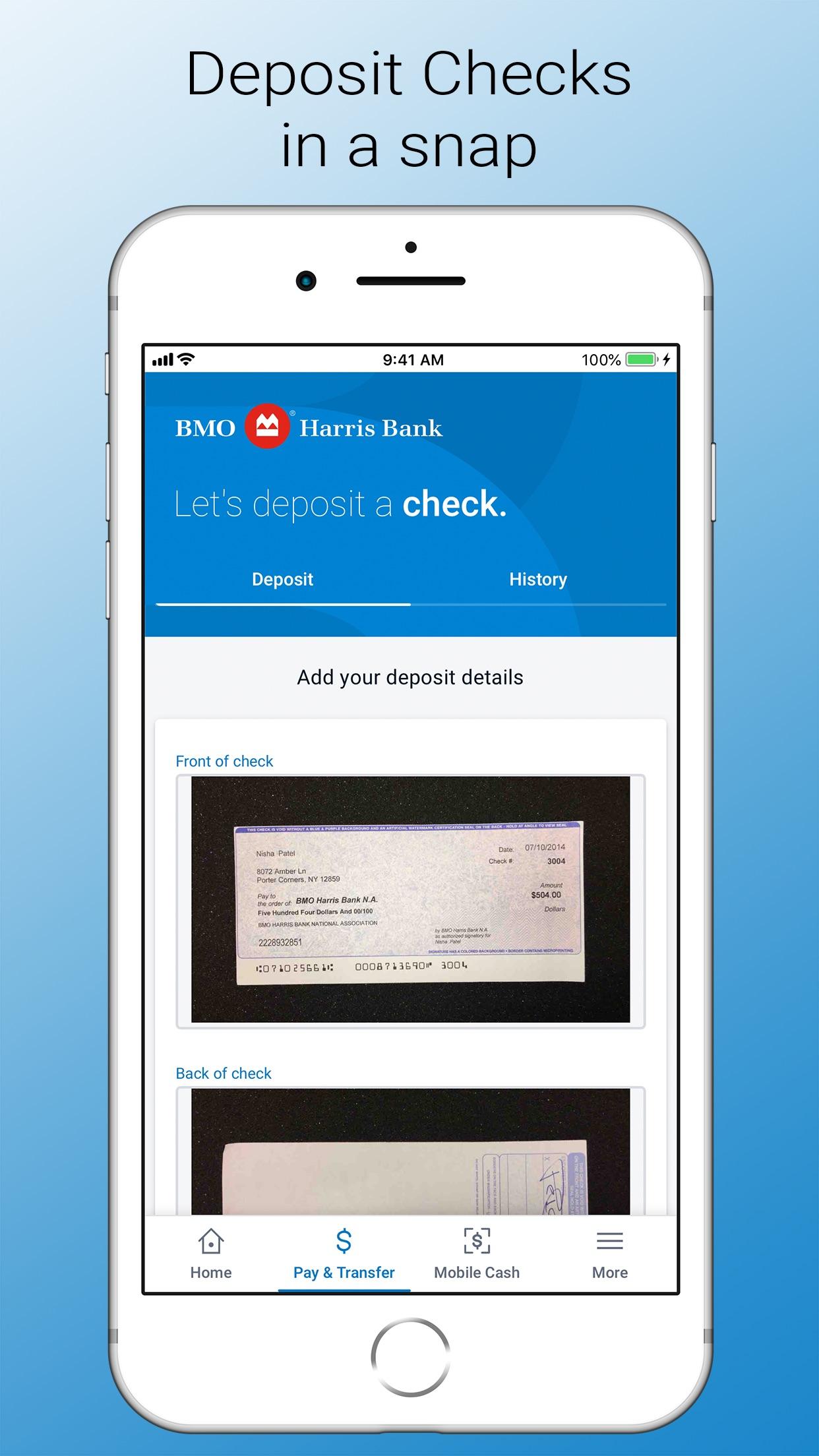 BMO Digital Banking Screenshot