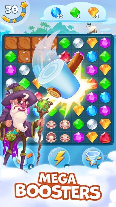 Pirate Treasures - Gems Puzzle free Coins and Lives hack