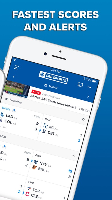 CBS Sports App Scores & News - Revenue & Download estimates - Apple