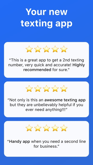 Screenshot for Second Texting Number in United States App Store