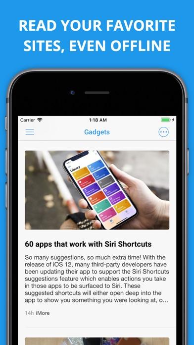 Newsify s'occupe de vos flux Google Reader sur iPhone-capture-1