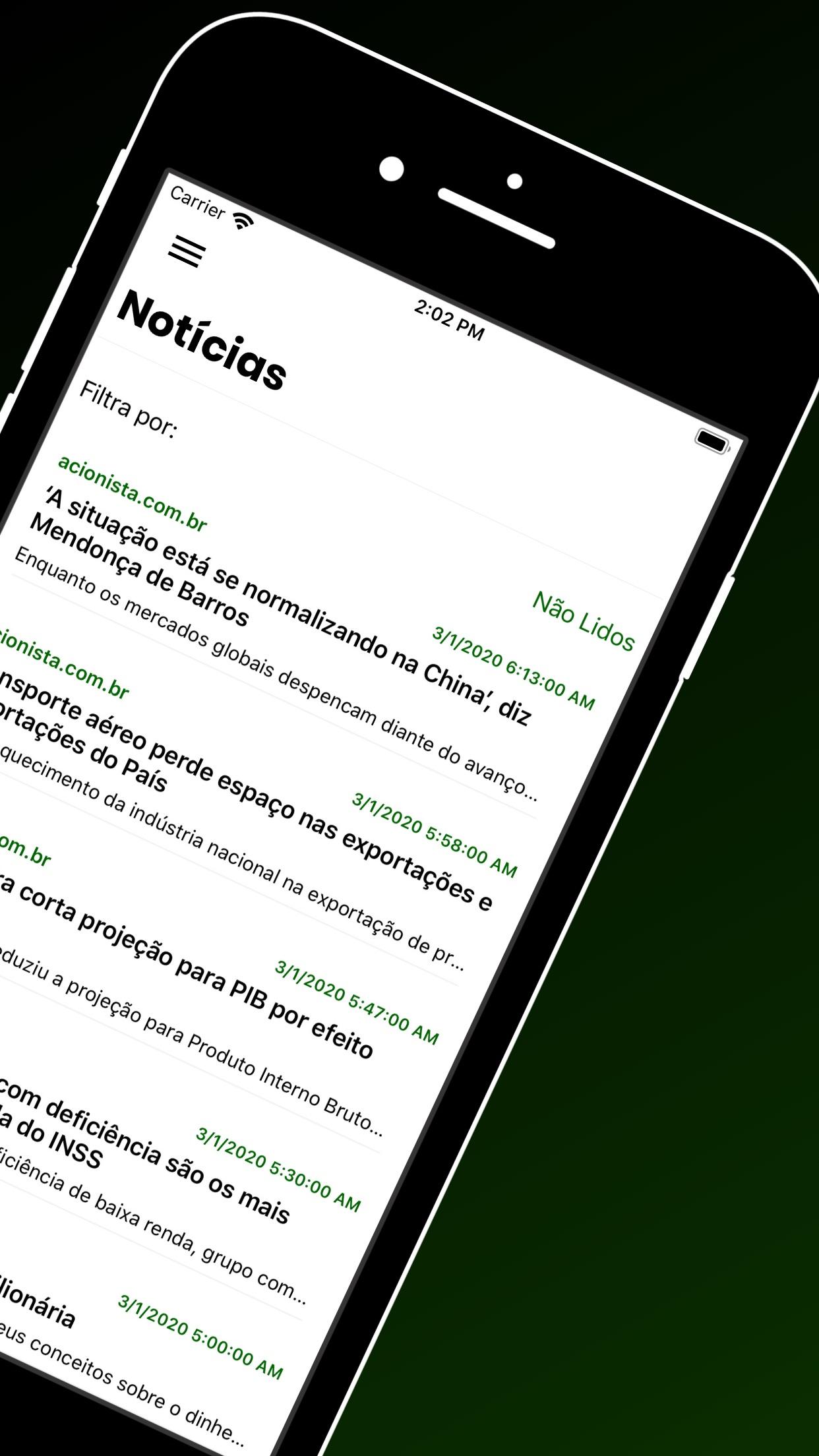 Screenshot do app Okanetrader Bolsa de Valores