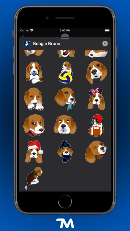 Beagle Bruno Stickers