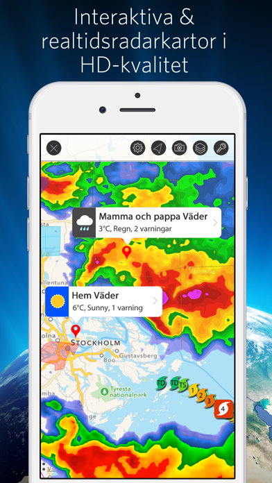 Väder Mate - Prognos och Radar på PC