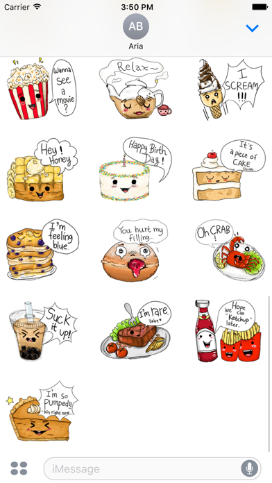 Adorable friends Food Emoji screenshot 4