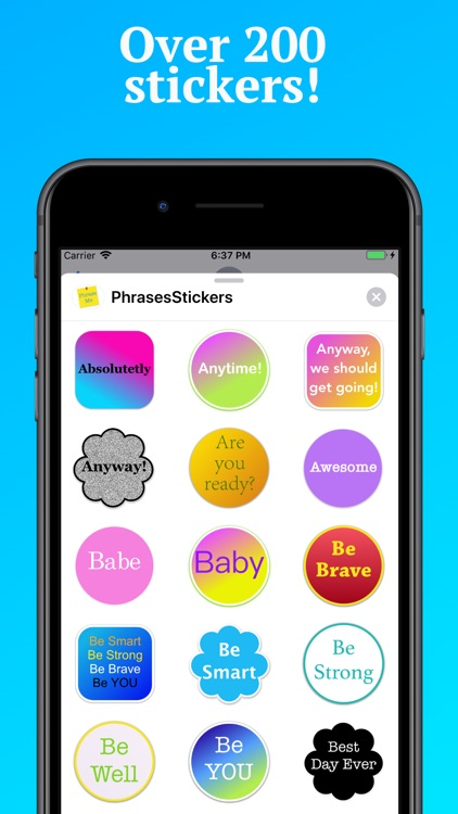 Phrases Stickers for iMessage
