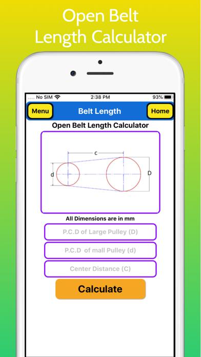 Belt Length Calculator Pro screenshot 2