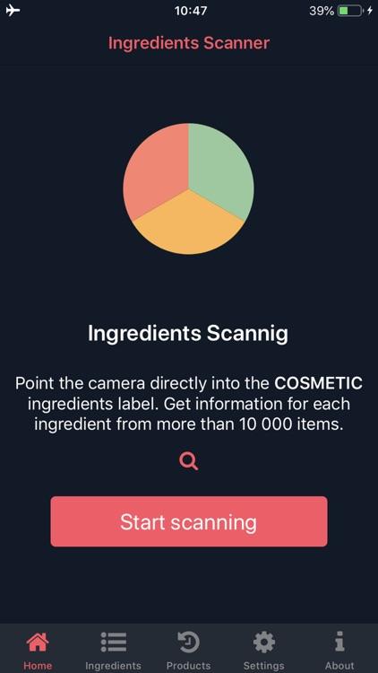 Ingredients Scanner