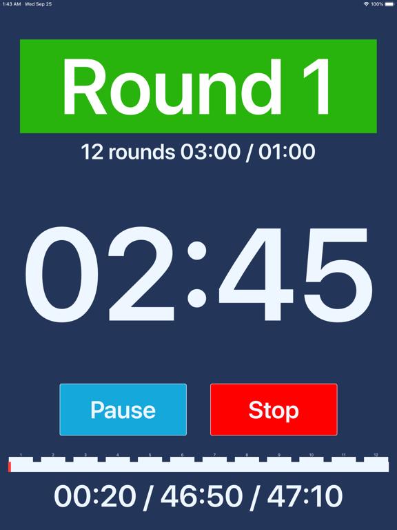 Boxing iTimer Lite screenshot