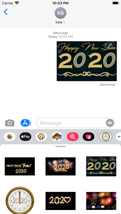2020 Happy New Year Stickers screenshot 1
