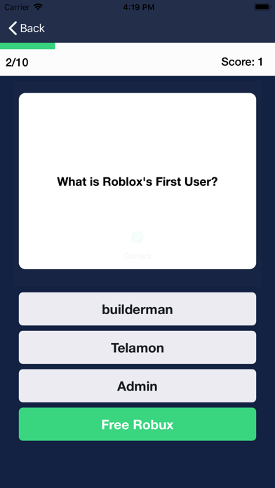 Password Telamon Roblox Robuxian Quiz For Robux By Fabio Piccio Ios United States Searchman App Data Information