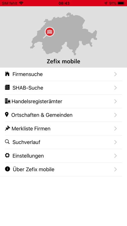 Zefix mobile
