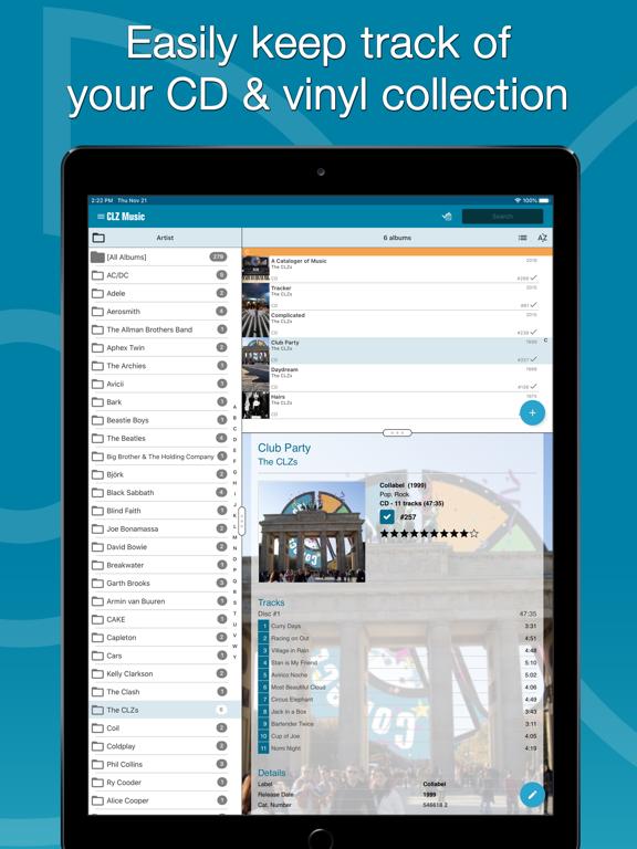 Screenshot #4 pour CLZ Music - Music Database