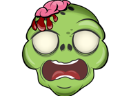 Zombie Stickers - Large