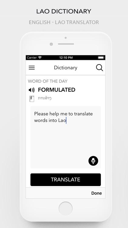 Lao(Laotian) Dictionary