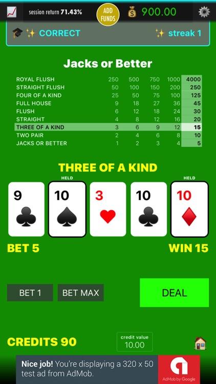 Practice Video Poker