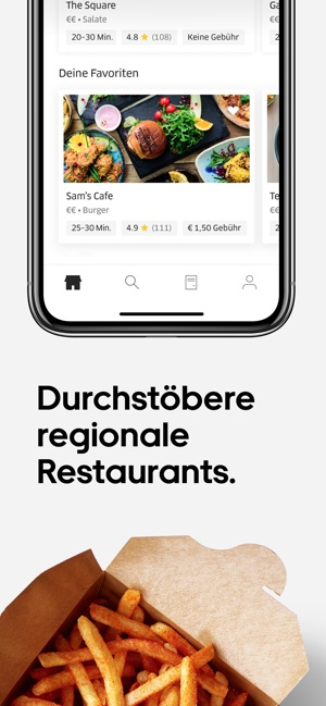 Uber Eats: Essenslieferung Screenshot