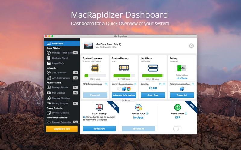MacRapidizer Screenshot