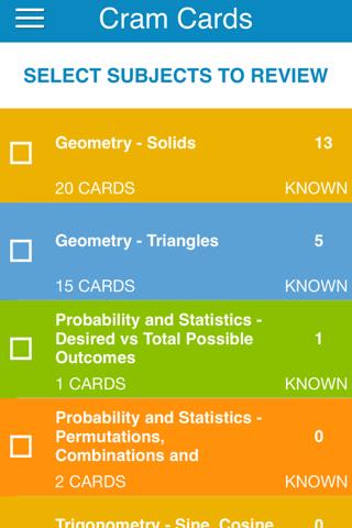 DAT Math Cram Cards - náhled