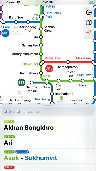 Screenshot #1 pour Bangkok Metro Transit Map