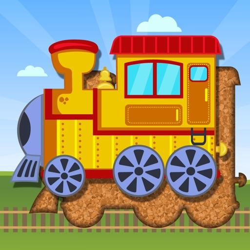 Поезда и транспорт – пазлы для младенцев