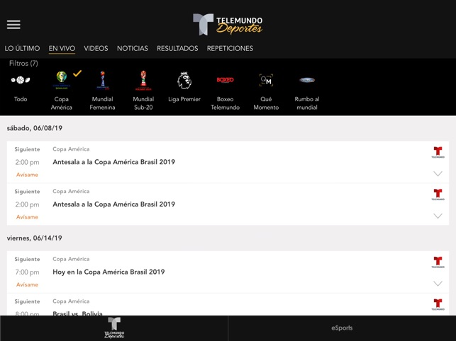 Telemundo Deportes on the App Store